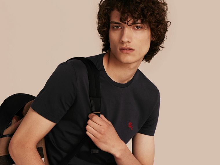 Cotton Jersey T-shirt in Black - Men | Burberry - cell image 4