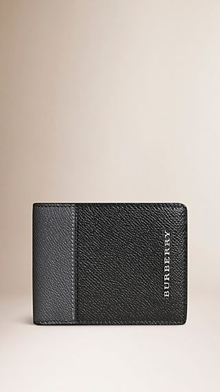 London Leather Folding Wallet