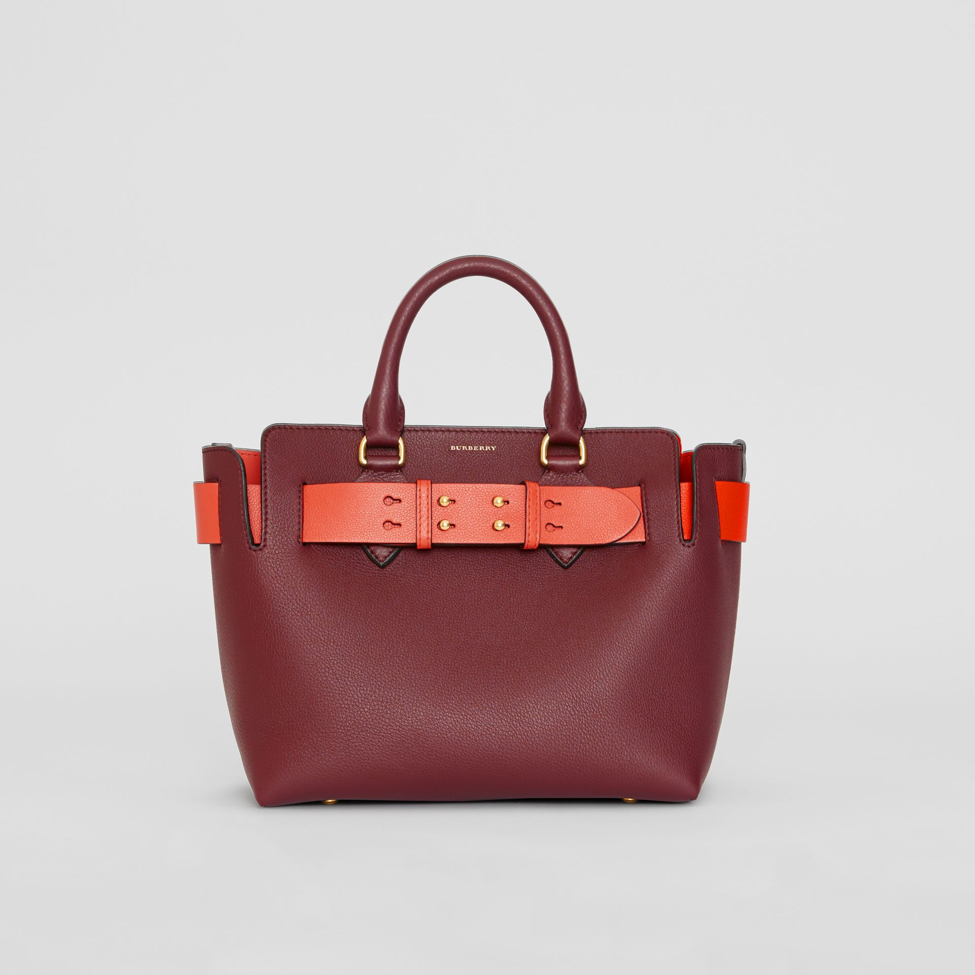 The Small Leather Belt Bag in Deep Claret - Women | Burberry - gallery image 0