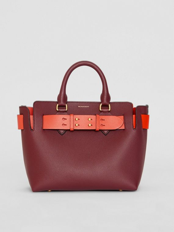 Borsa The Belt piccola in pelle (Rosso Violetto Intenso)