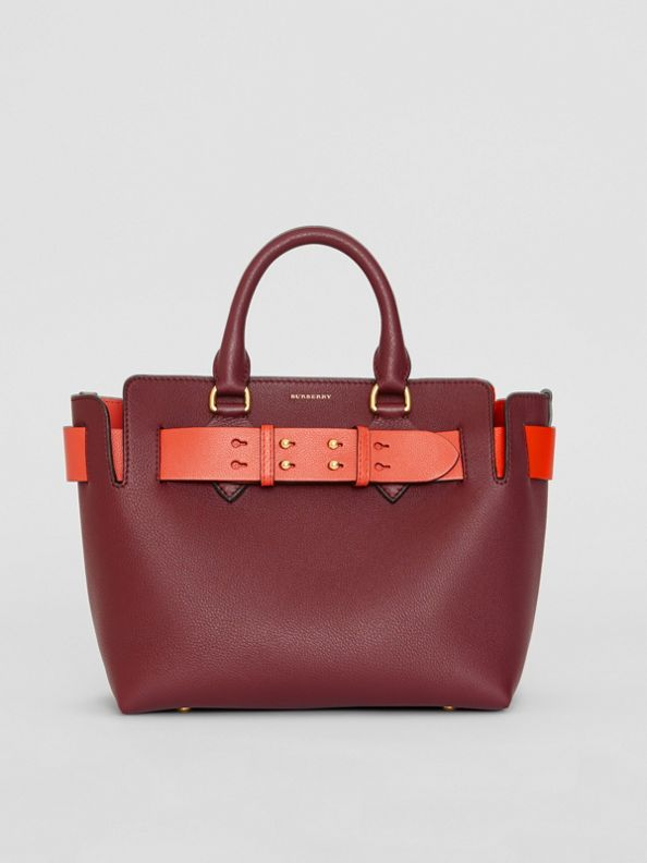 The Small Leather Belt Bag in Deep Claret