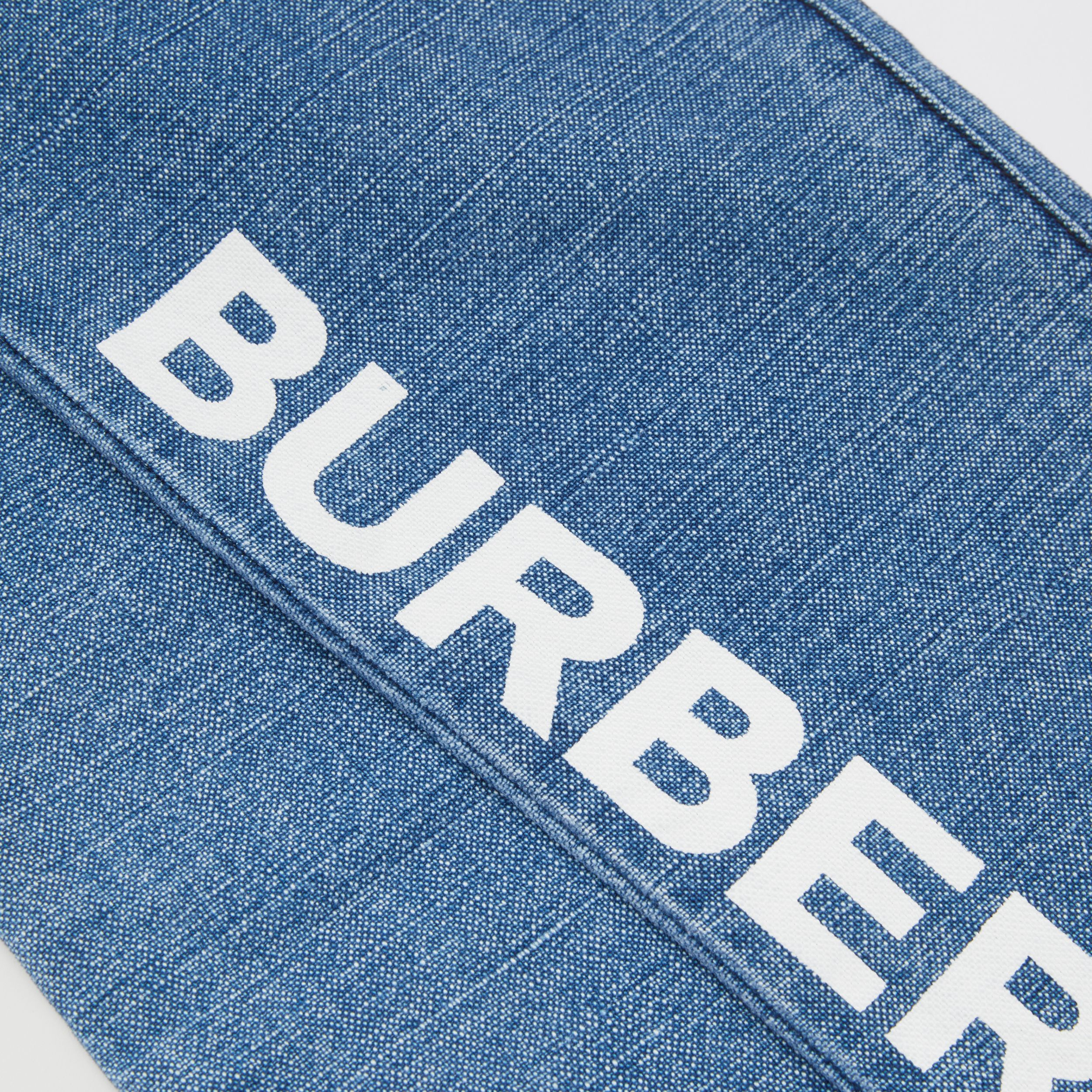 Logo Print Japanese Denim Jeans in Indigo | Burberry - 2