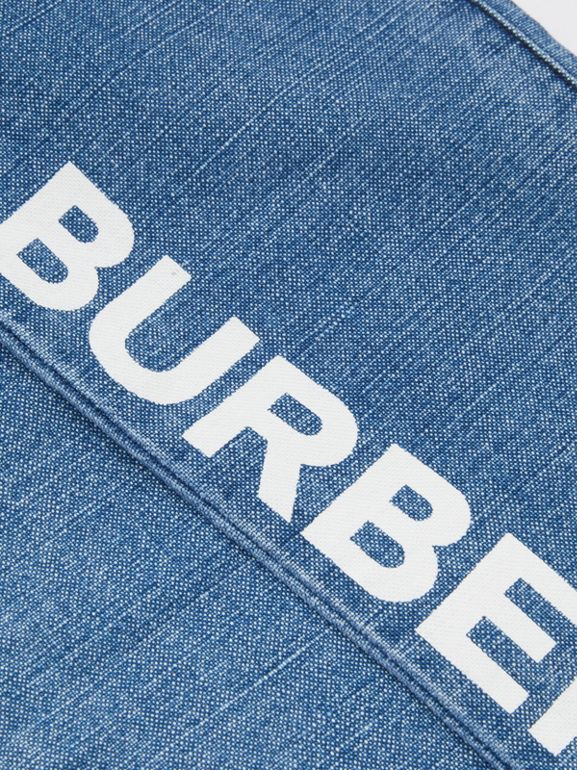 Logo Print Japanese Denim Jeans in Indigo - Boy | Burberry - cell image 1