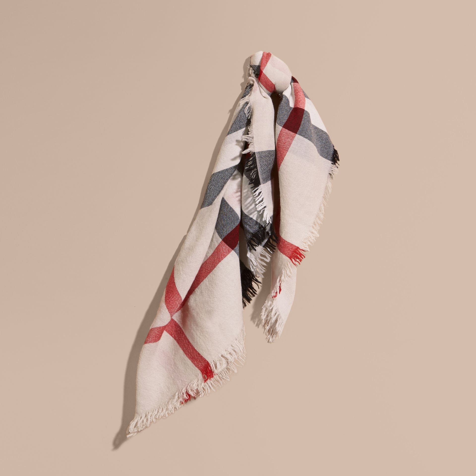 Check Merino Wool Square - Large | Burberry - gallery image 1