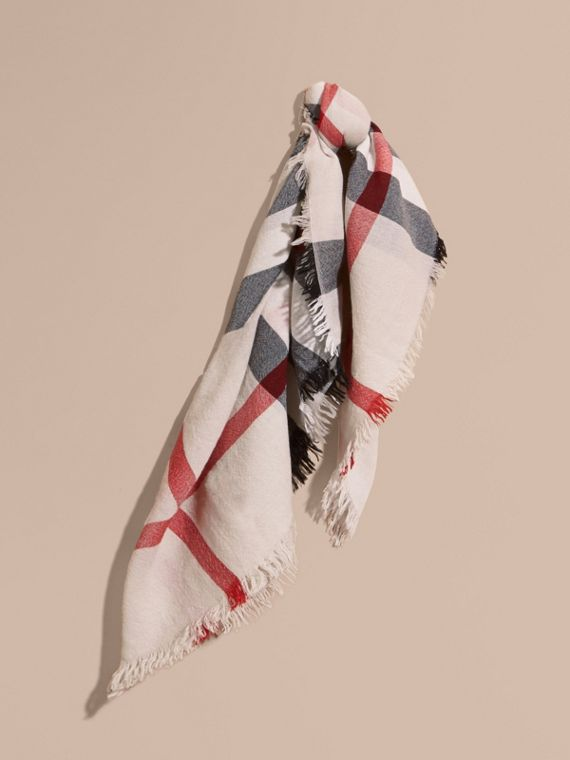 Check Merino Wool Square - Large | Burberry