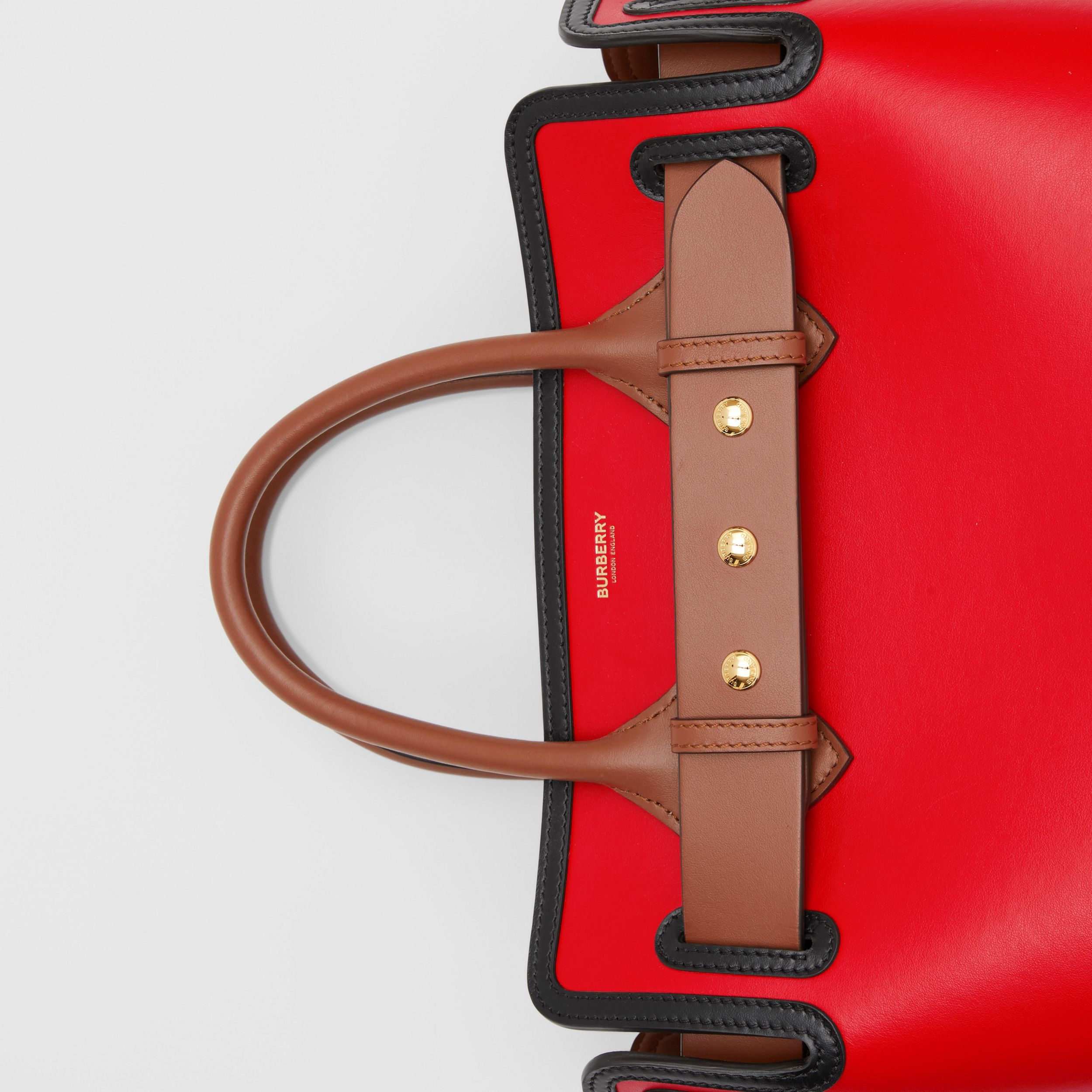 The Small Leather Triple Stud Belt Bag in Bright Red - Women | Burberry - 2