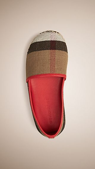 Canvas Check Espadrilles