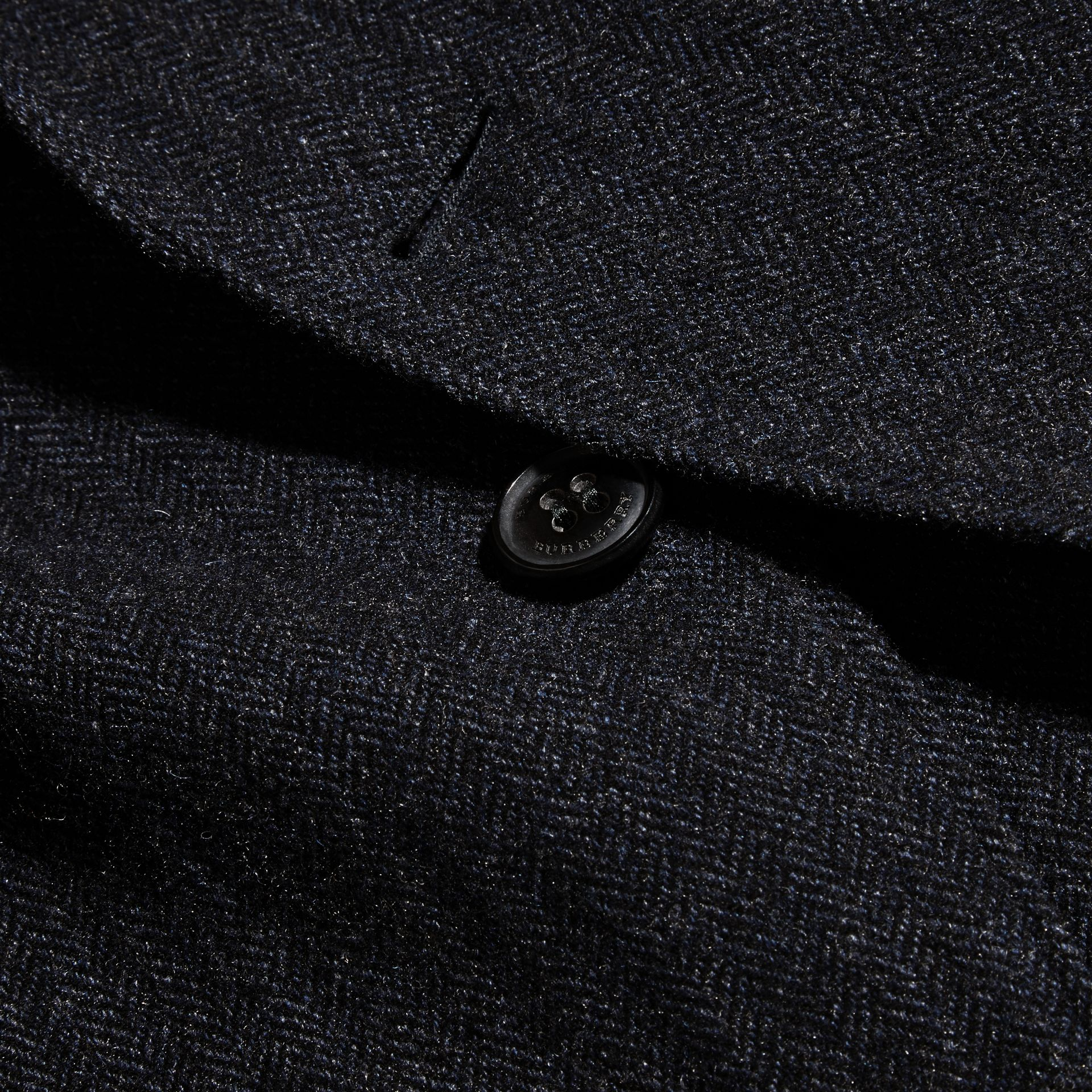 Navy Patch Pocket Wool Tailored Jacket - gallery image 2