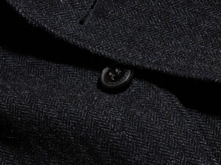 Navy Patch Pocket Wool Tailored Jacket - cell image 1