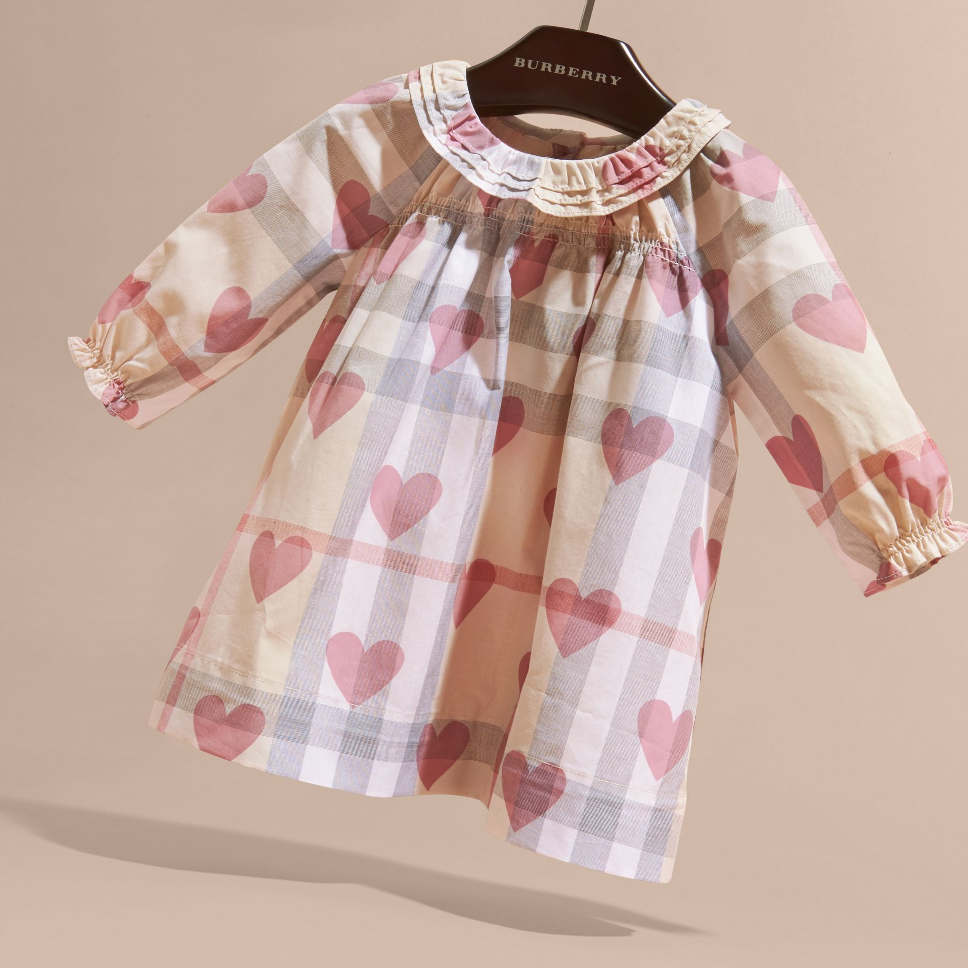 Heart and Check Cotton Dress and Bloomers - gallery image 3