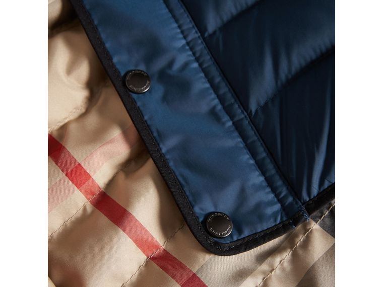 Down-filled Hooded Gilet in Ink Blue | Burberry - cell image 1