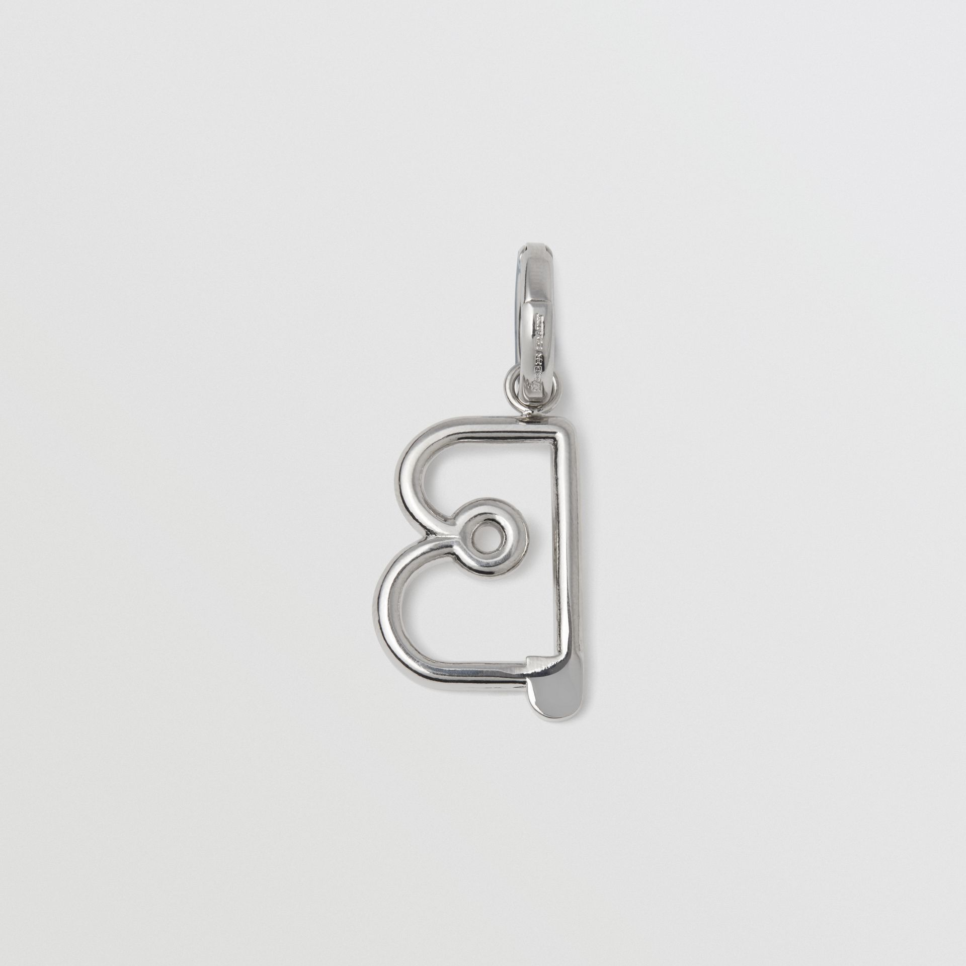 Kilt Pin 'B' Alphabet Charm in Palladio - Women | Burberry - gallery image 1