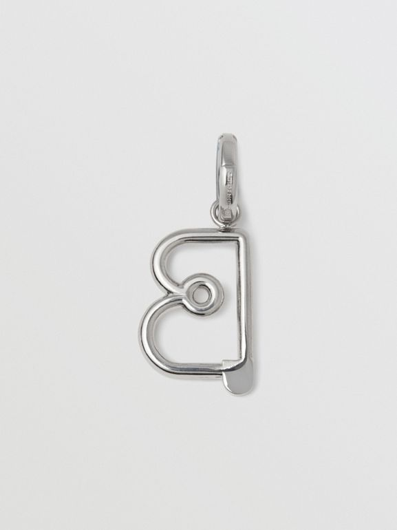 Kilt Pin 'B' Alphabet Charm in Palladio - Women | Burberry - cell image 1