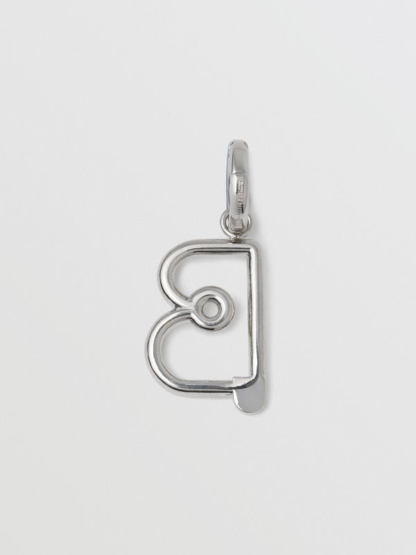 Kilt Pin 'B' Alphabet Charm in Palladio - Women | Burberry United Kingdom - cell image 3