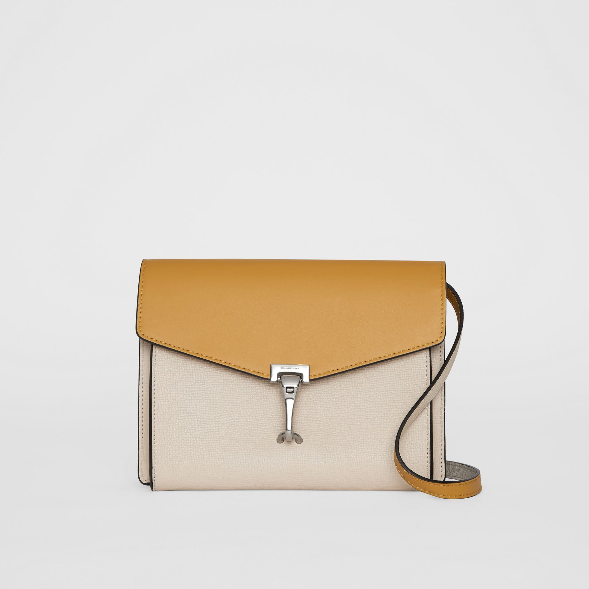 Two-tone Leather Crossbody Bag in Limestone/cornflower Yellow - Women | Burberry United Kingdom - gallery image 0
