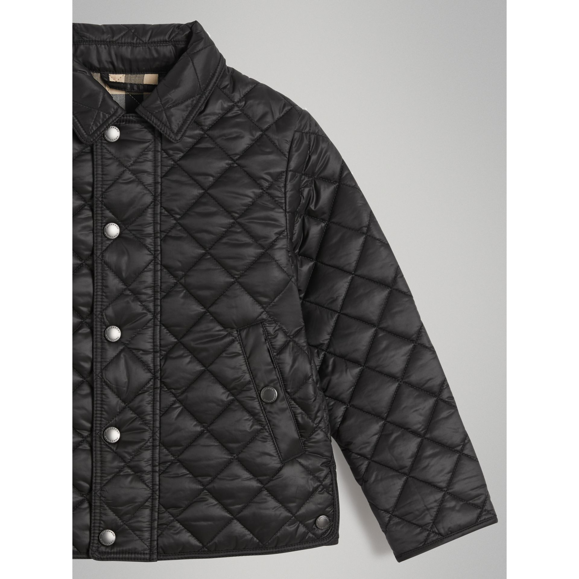 Diamond Quilted Jacket in Black - Boy | Burberry - gallery image 4