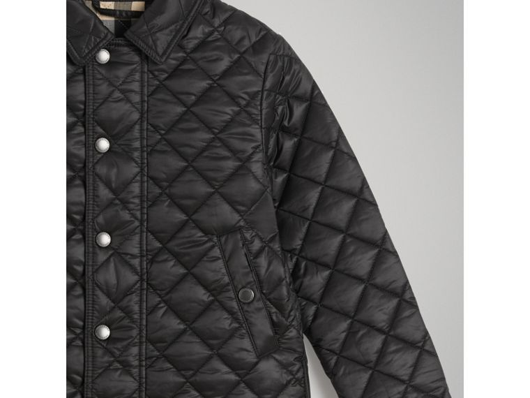 Diamond Quilted Jacket in Black - Boy | Burberry - cell image 4