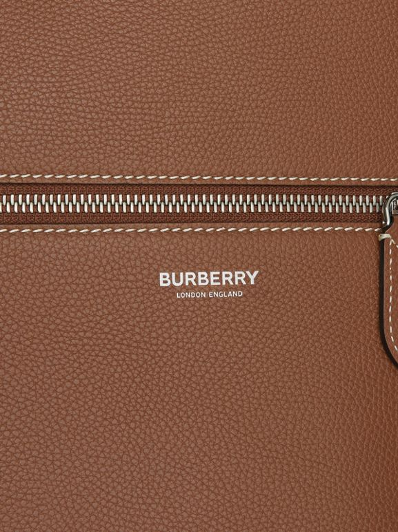 Grainy Leather Tote in Tan | Burberry - cell image 1