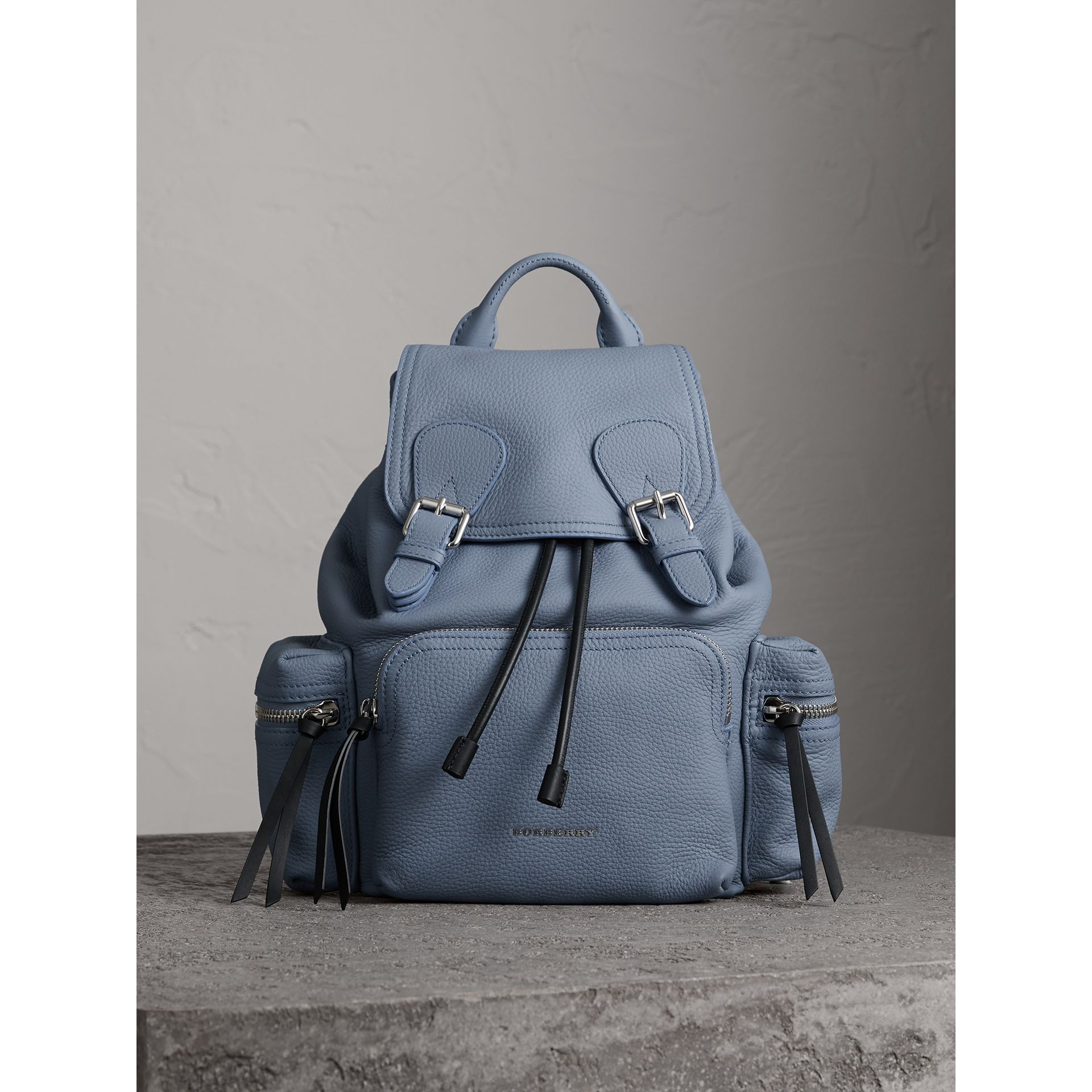The Medium Rucksack in Deerskin with Resin Chain in Slate Blue - Women | Burberry Singapore - gallery image 5