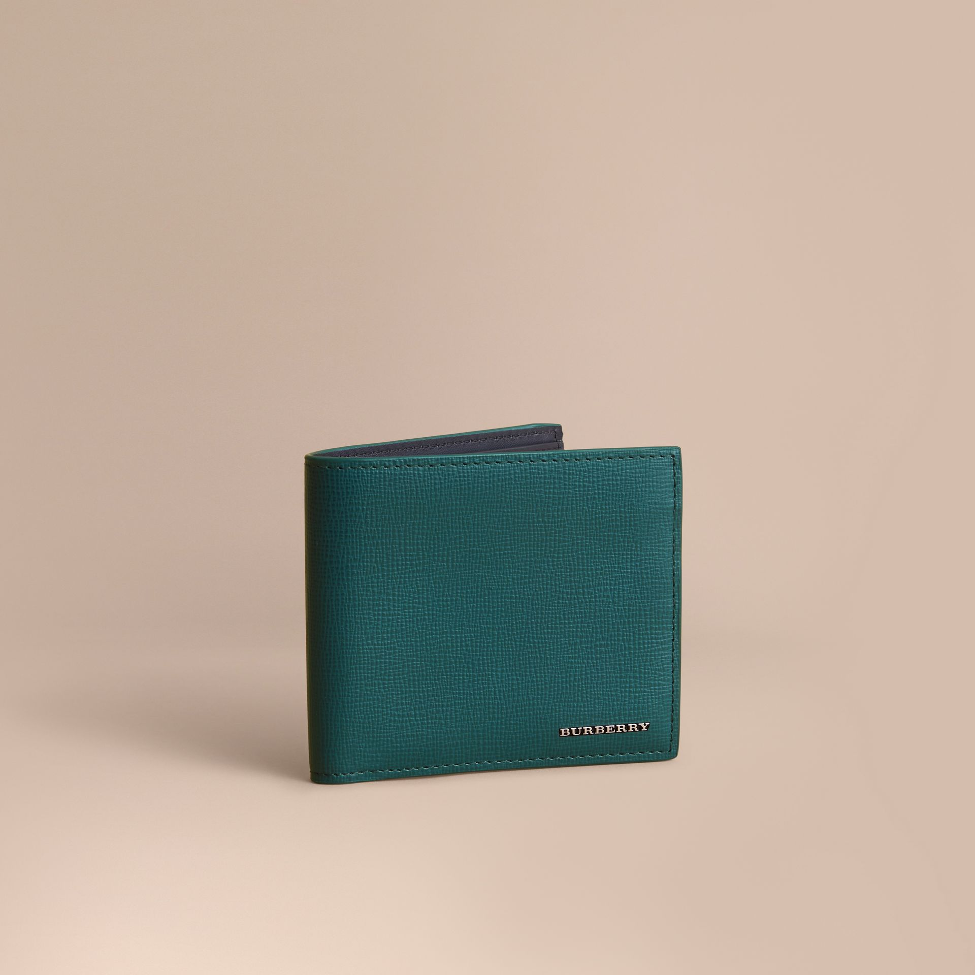 London Leather International Bifold Wallet Dark Teal - gallery image 1