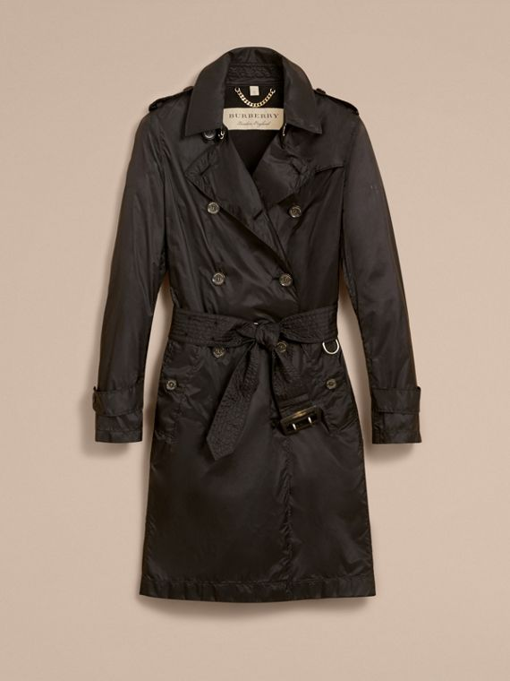 Super-lightweight Trench Coat in Black - Women | Burberry - cell image 3