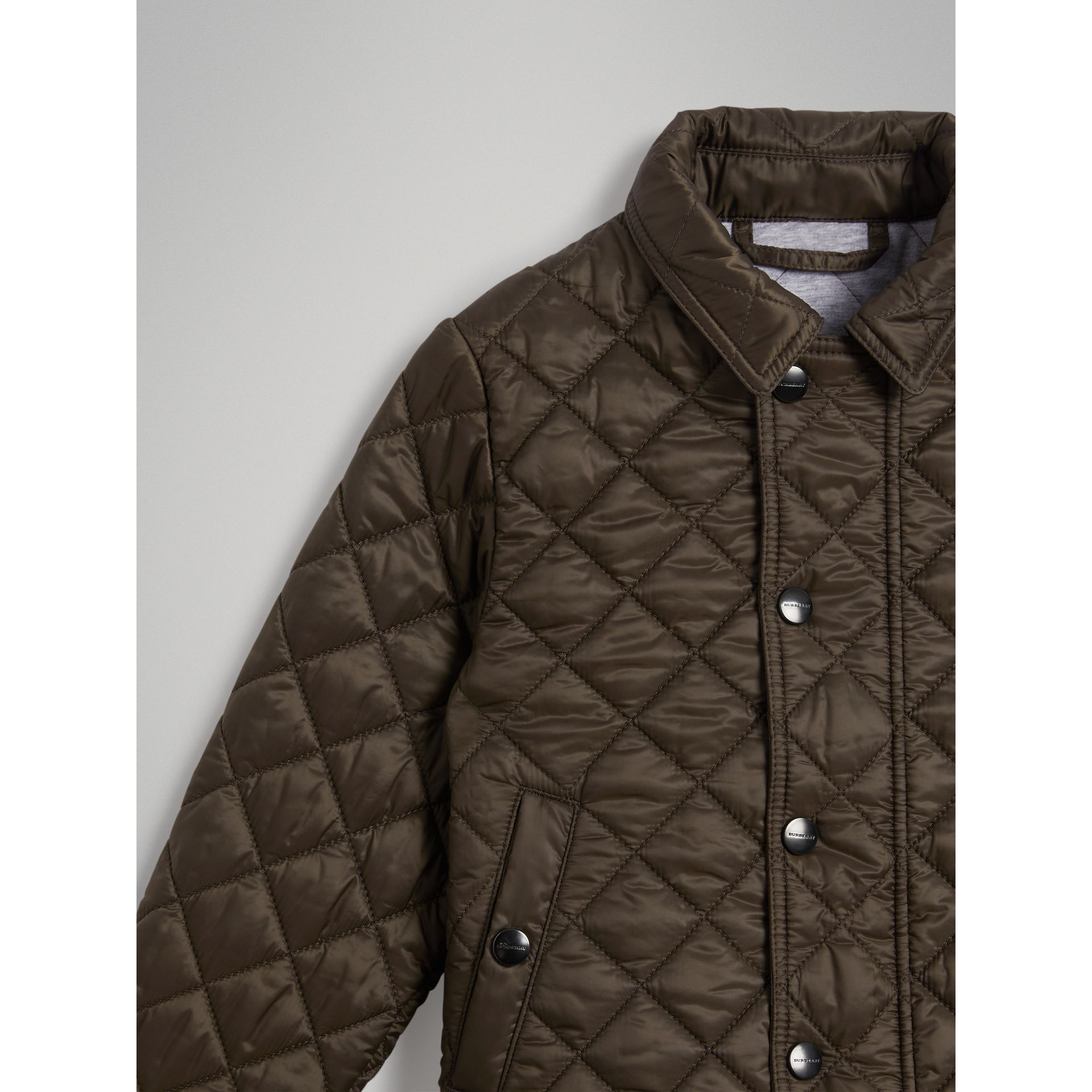 Lightweight Diamond Quilted Jacket in Oregano | Burberry Canada - gallery image 2