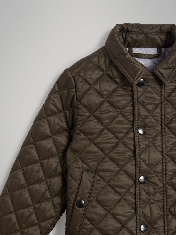Lightweight Diamond Quilted Jacket in Oregano | Burberry - cell image 2