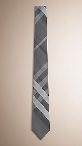 Modern Cut Beat Check Silk Tie