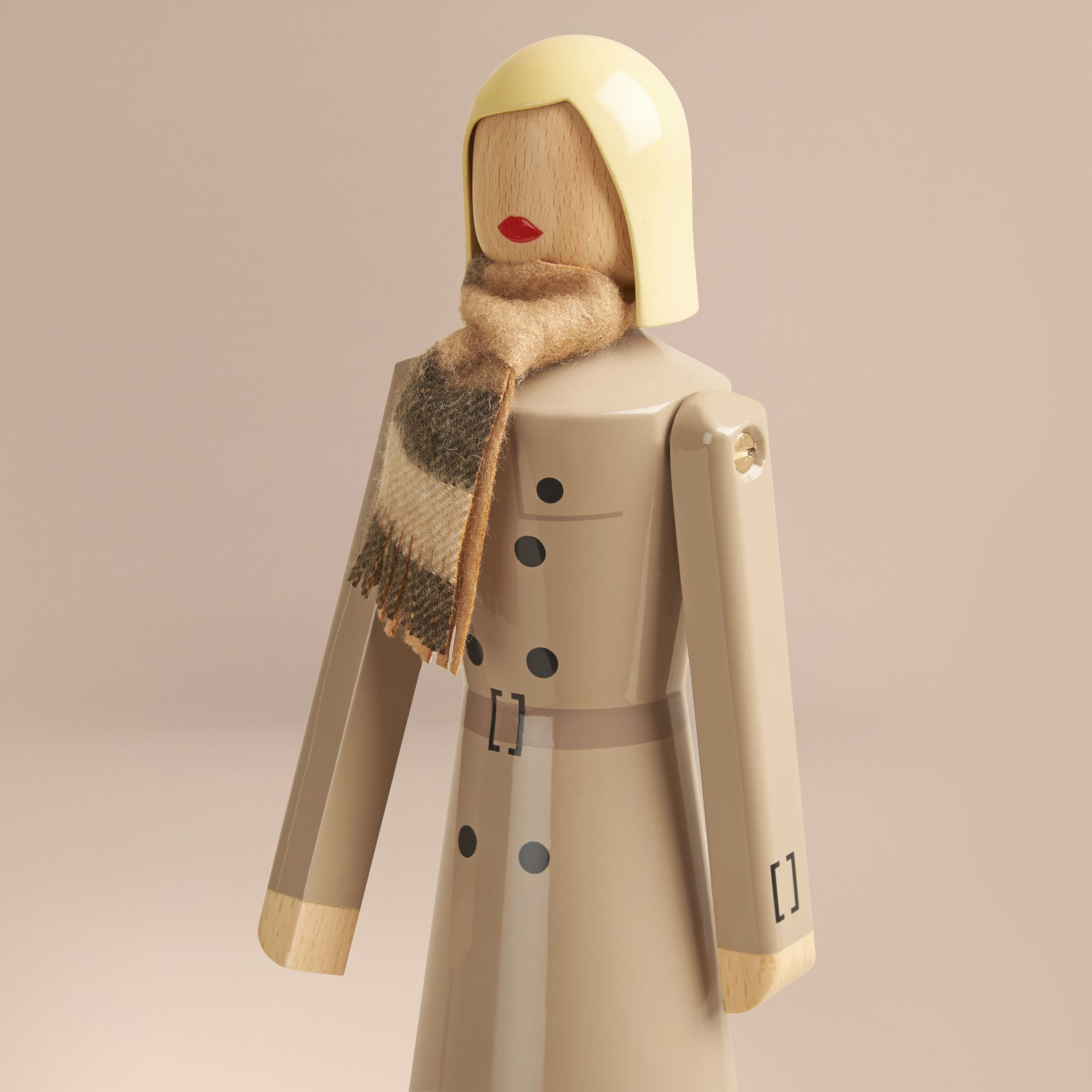 Multicolour Miss Trench Limited Edition Wooden Puppet - gallery image 7