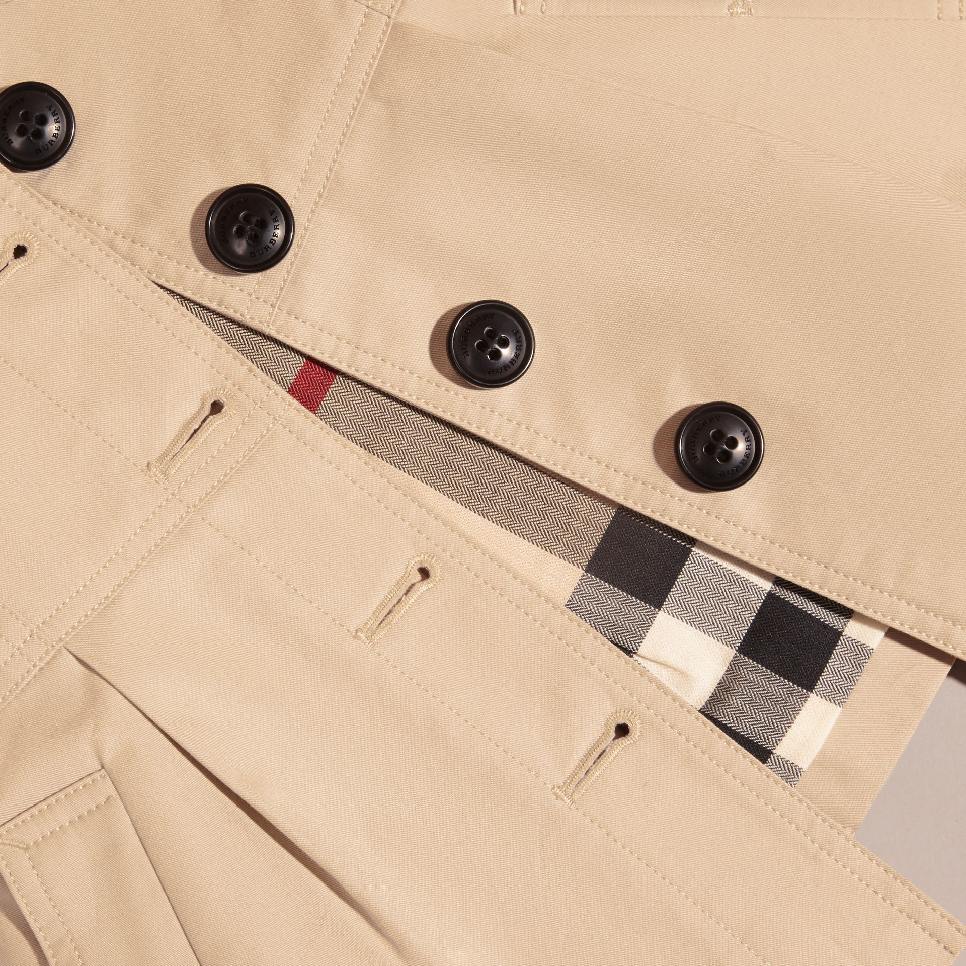 Cotton Trench Coat in Stone | Burberry - gallery image 2