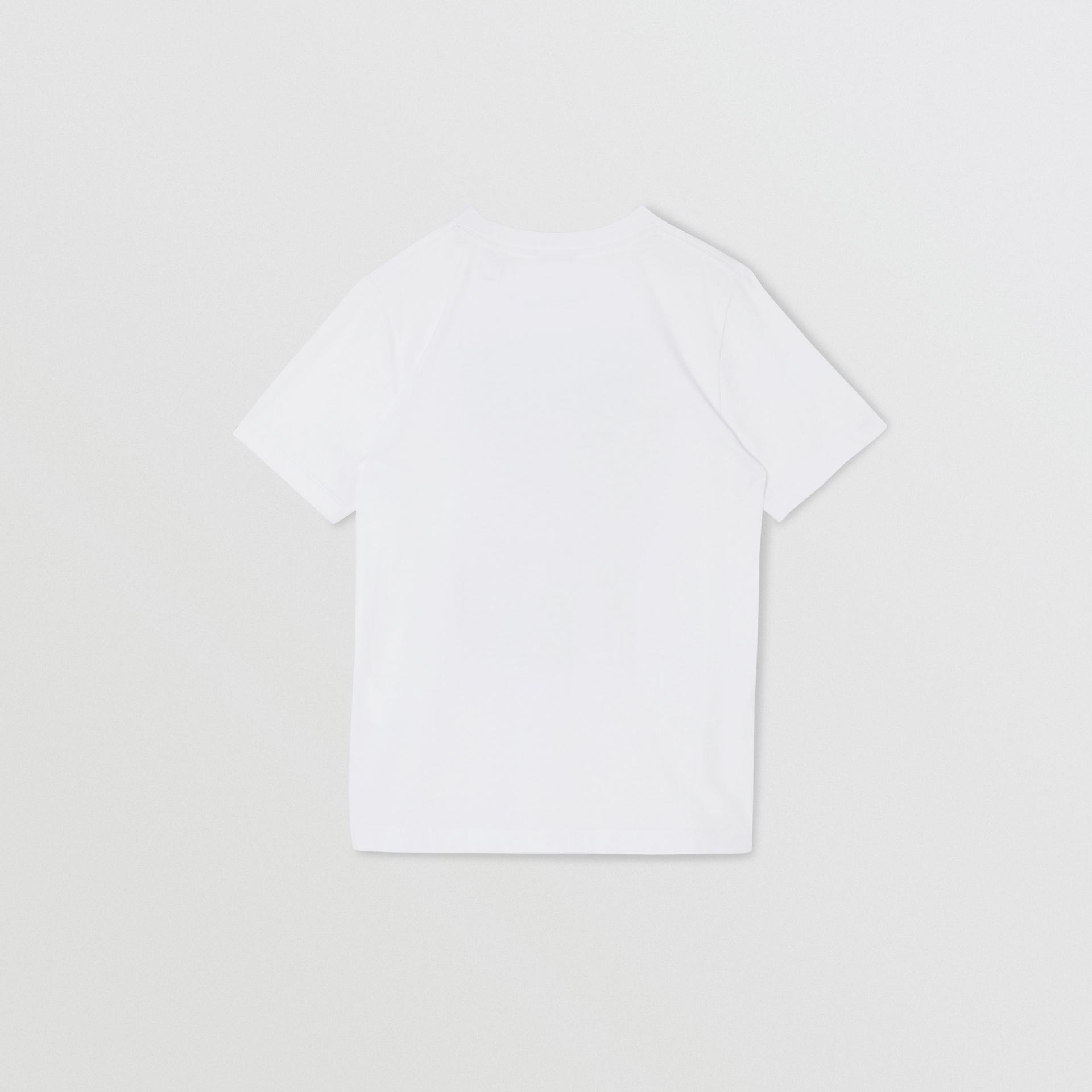 Collage Print Cotton T-shirt in White | Burberry United States - gallery image 5