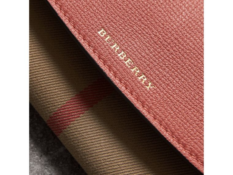 House Check And Leather Continental Wallet in Cinnamon Red - Women | Burberry United States - cell image 1