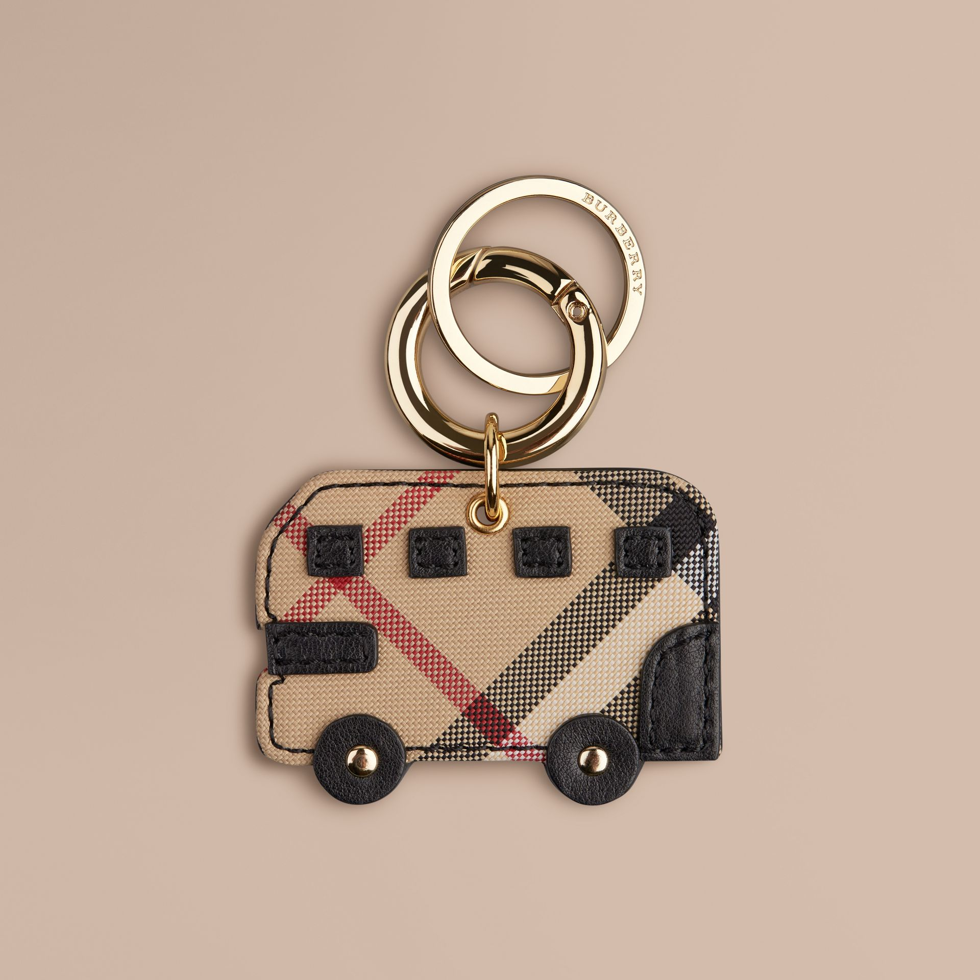 Black Horseferry Check London Bus Key Charm - gallery image 1