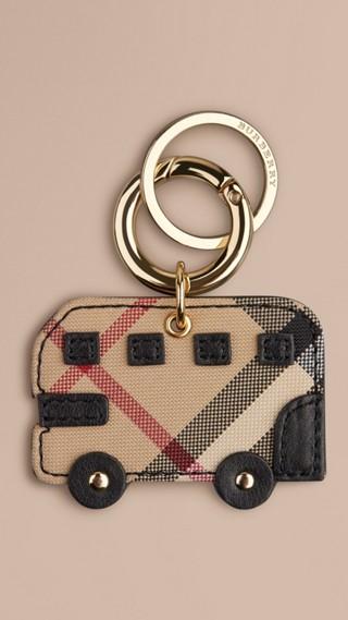 Horseferry Check London Bus Key Charm