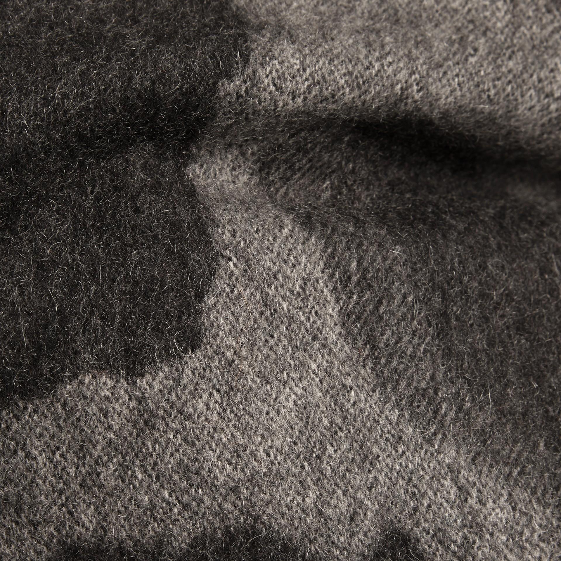 Mid grey print Animal Jacquard Cashmere Cushion Cover Mid Grey Print - gallery image 2