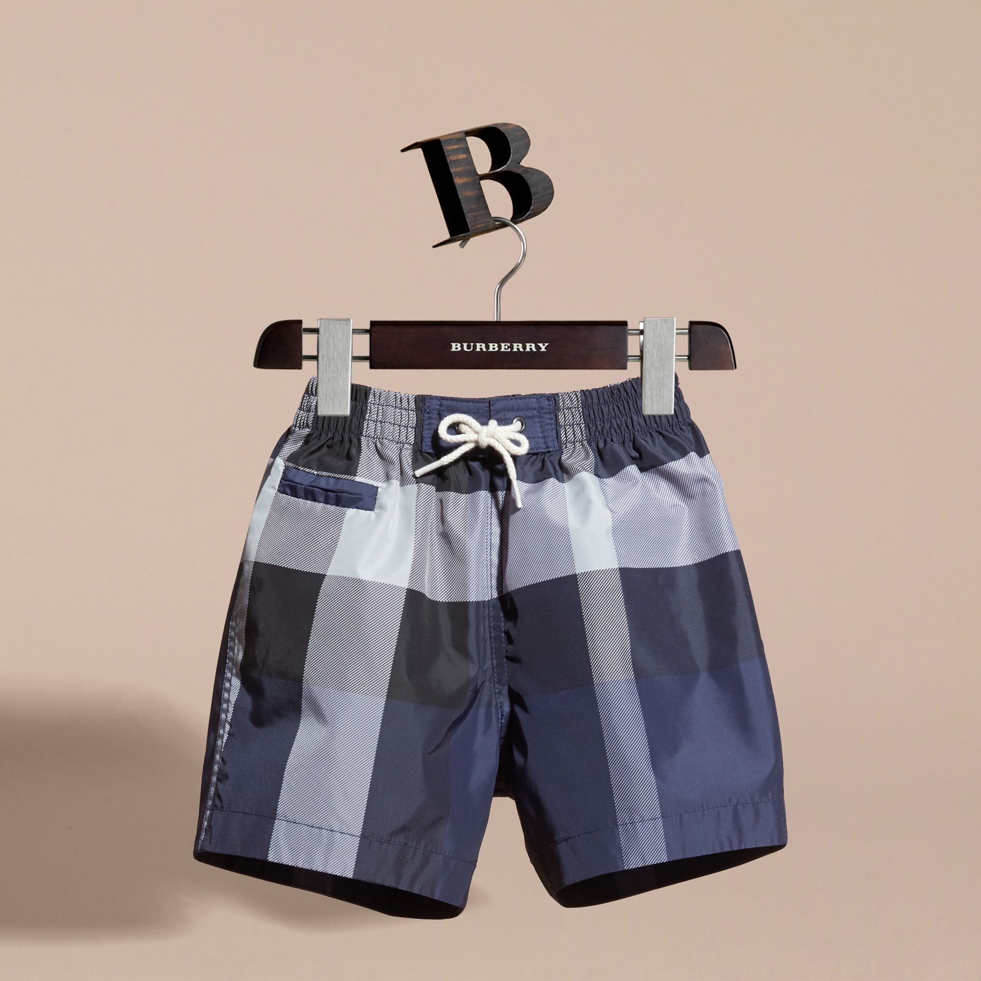 Check Technical Swim Shorts in Ink | Burberry - gallery image 3