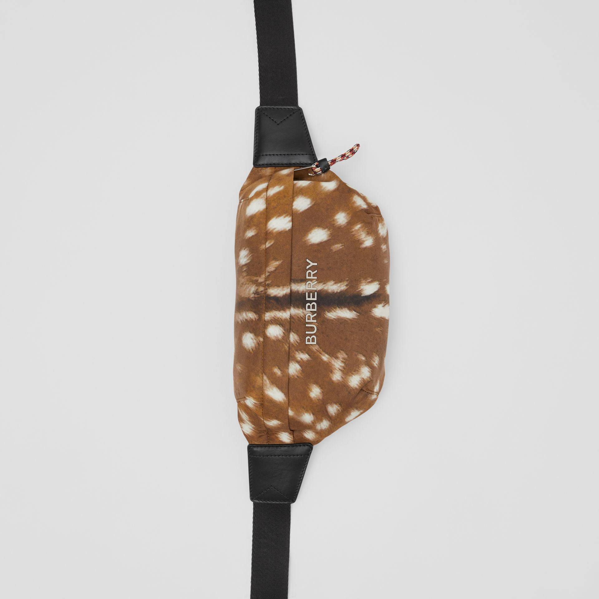Medium Deer Print Bum Bag in Tan/white | Burberry - gallery image 4