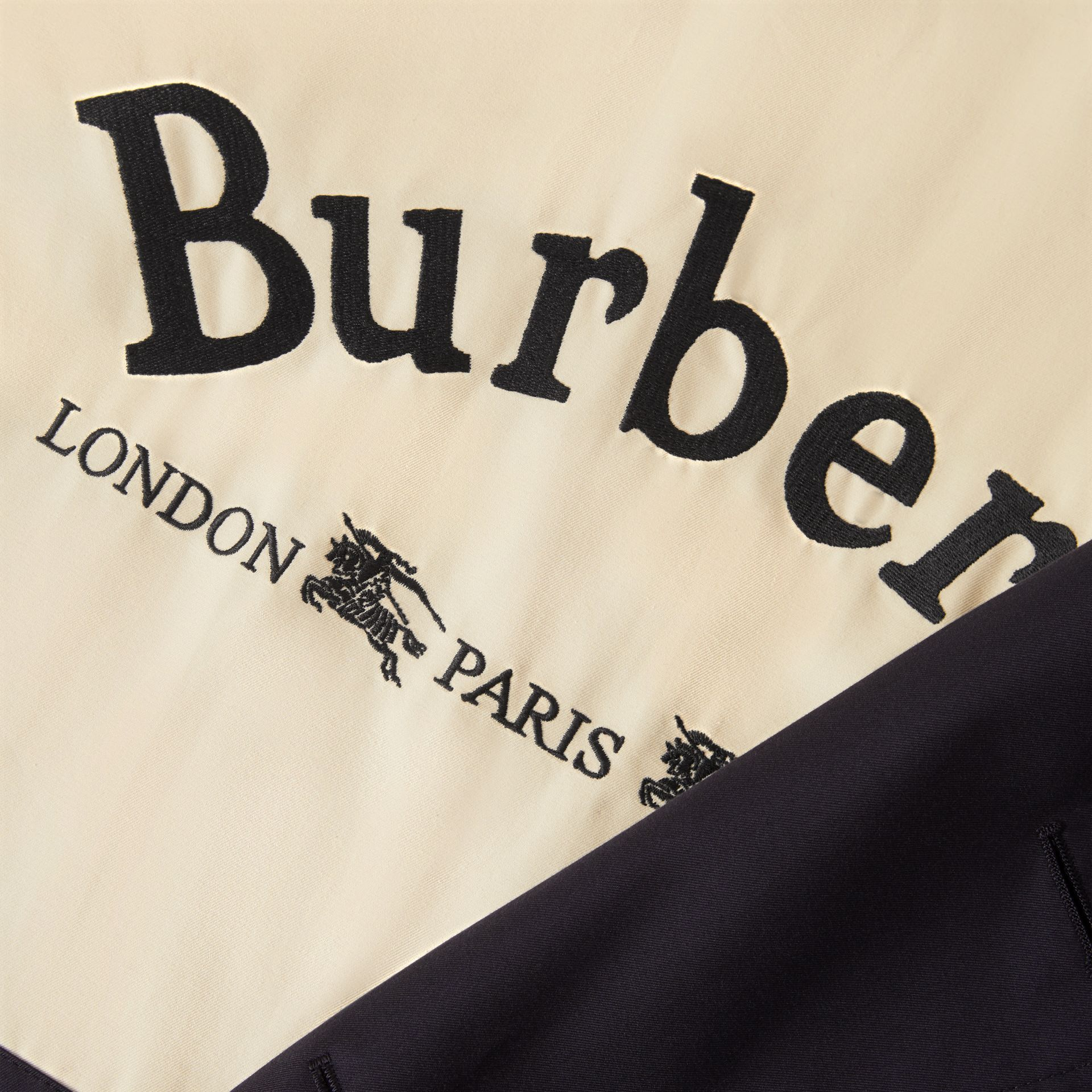 Archive Logo-lined Cotton Gabardine Trench Coat in Midnight - Men | Burberry Canada - gallery image 8