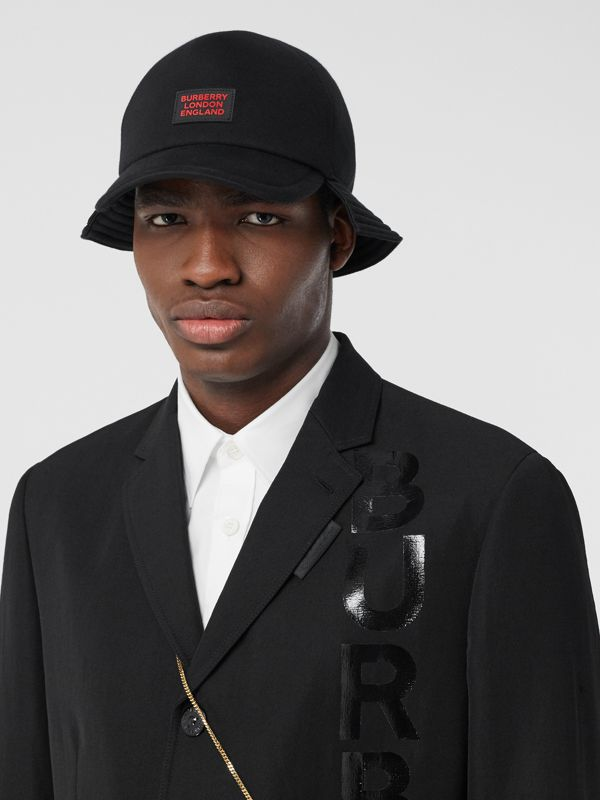 Logo Appliqué Reconstructed Baseball Cap in Black | Burberry Hong Kong S.A.R - cell image 3