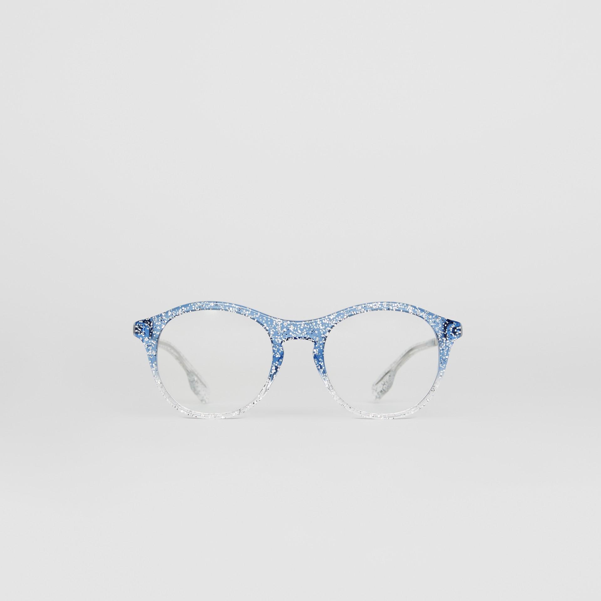Gafas de ver de montura redonda con purpurina (Azul) - Mujer | Burberry - imagen de la galería 0