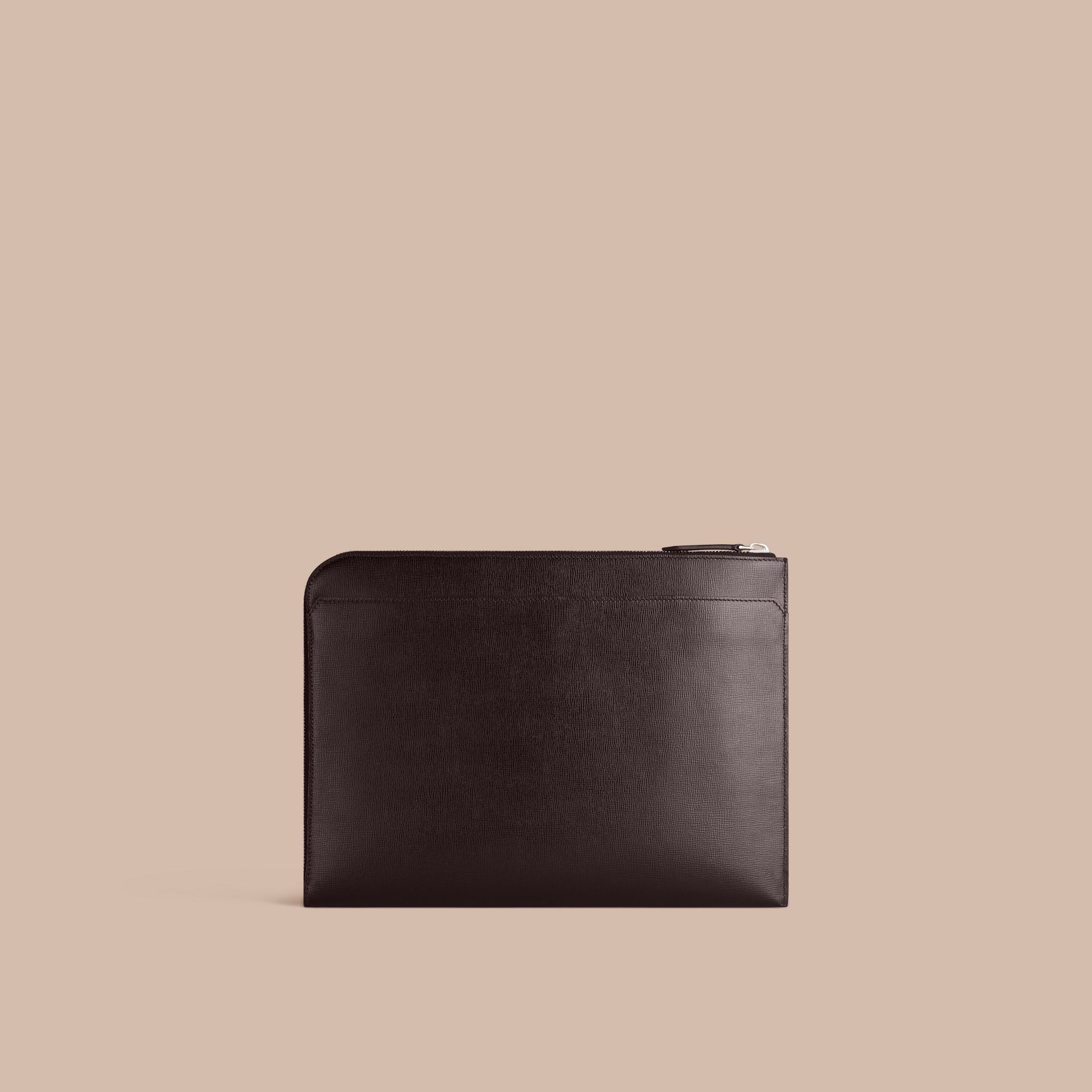 Black London Leather Document Case Black - gallery image 4