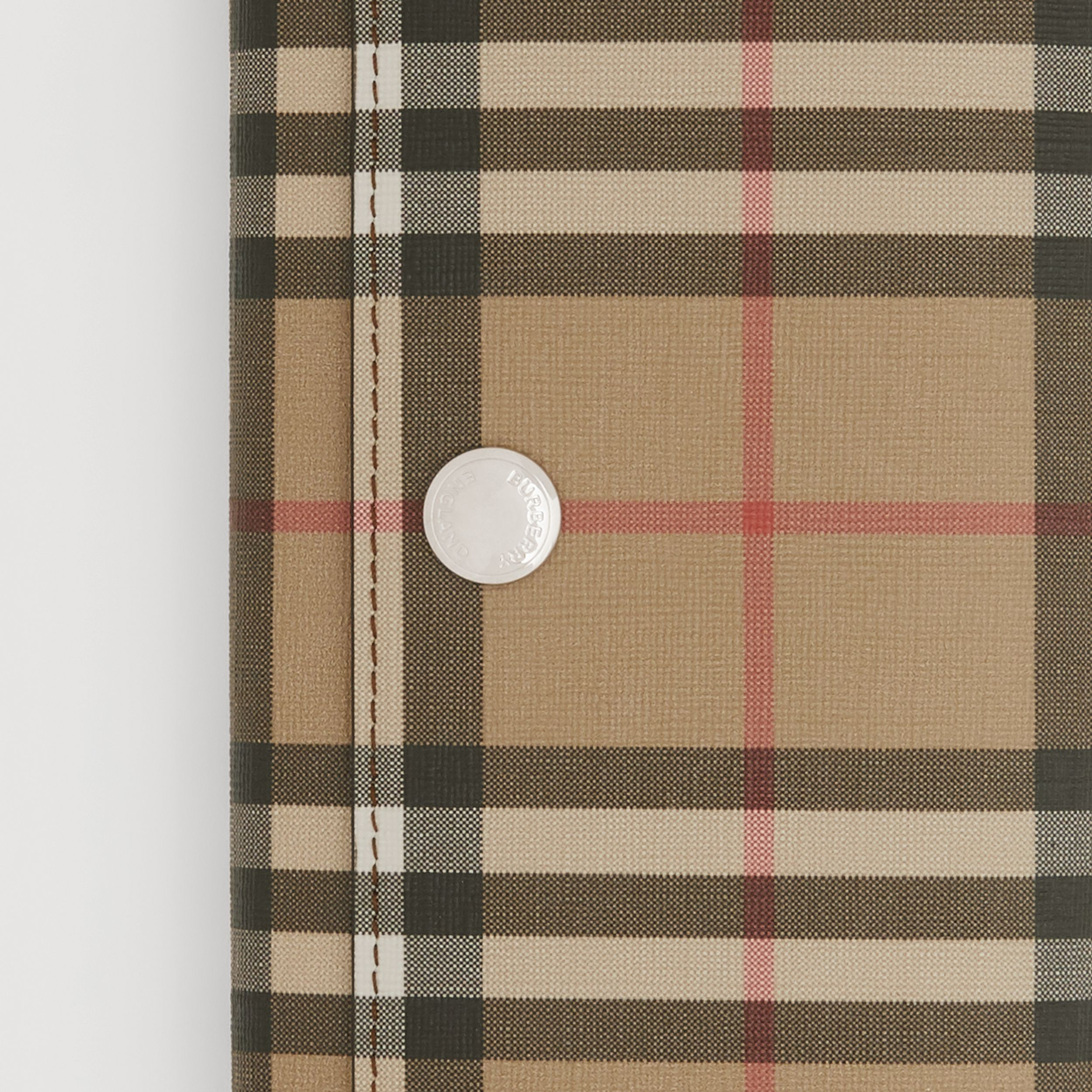 Vintage Check E-canvas Continental Wallet in Malt Brown - Women | Burberry United Kingdom - 3