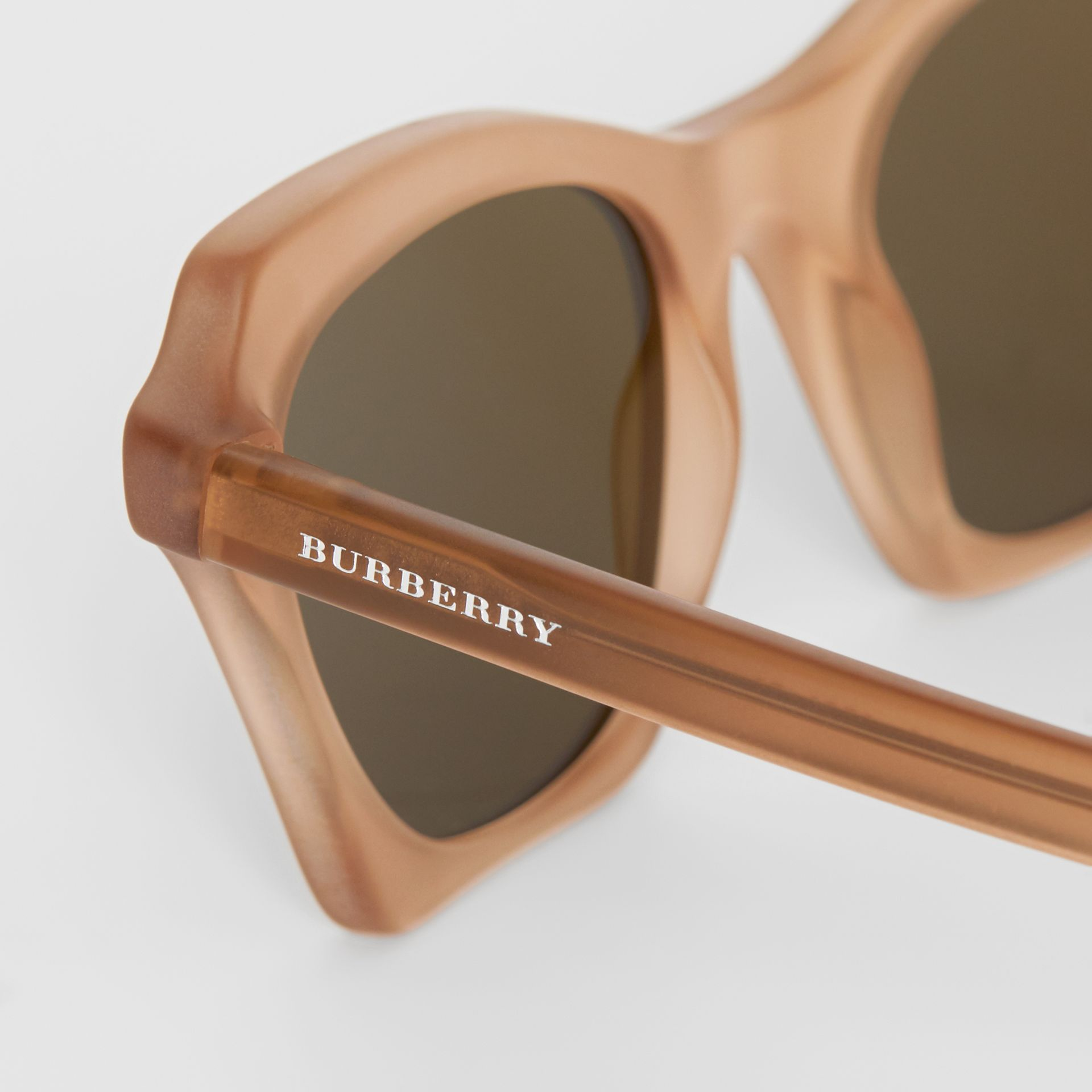 Butterfly Frame Sunglasses in Brown - Women | Burberry - gallery image 1