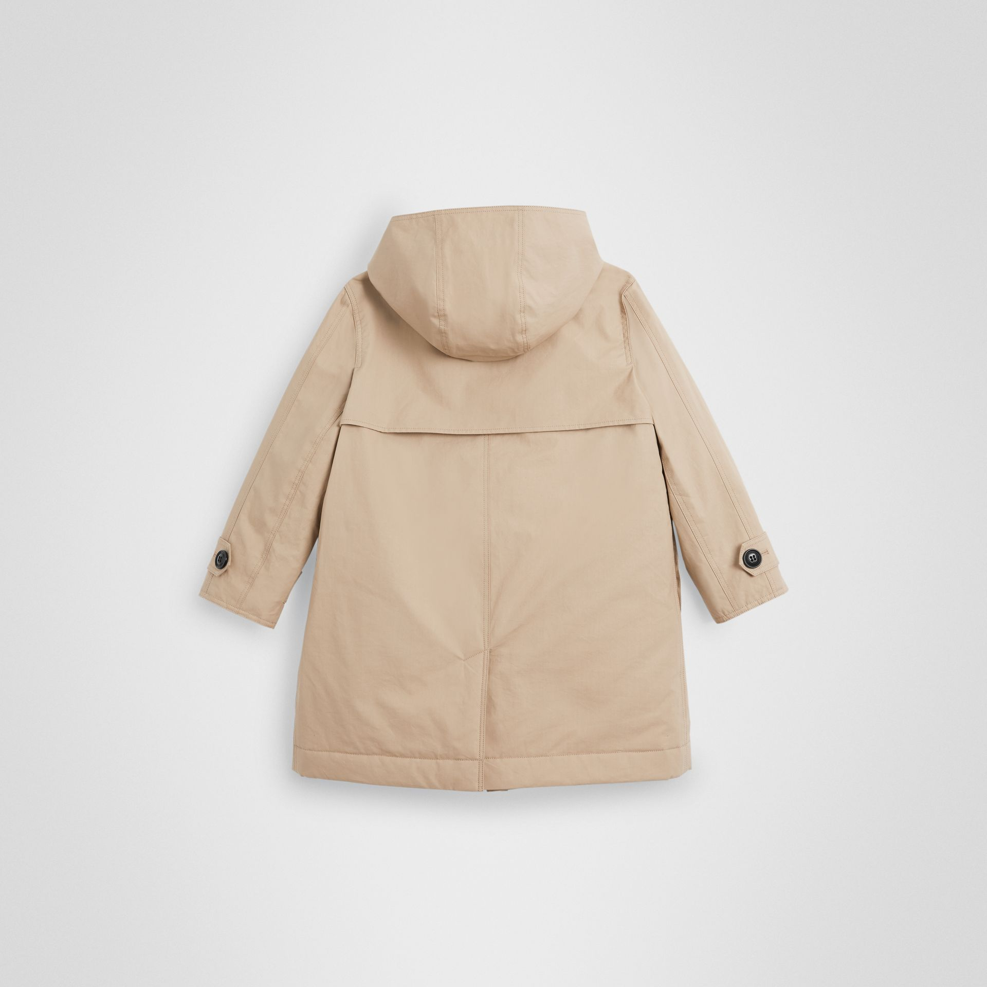 Detachable Hood Cotton Car Coat in Honey | Burberry - gallery image 3