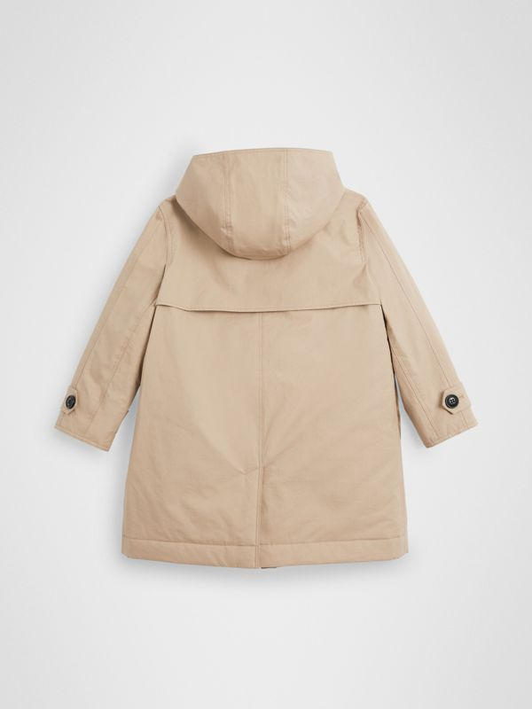 Detachable Hood Cotton Car Coat in Honey | Burberry United Kingdom - cell image 3