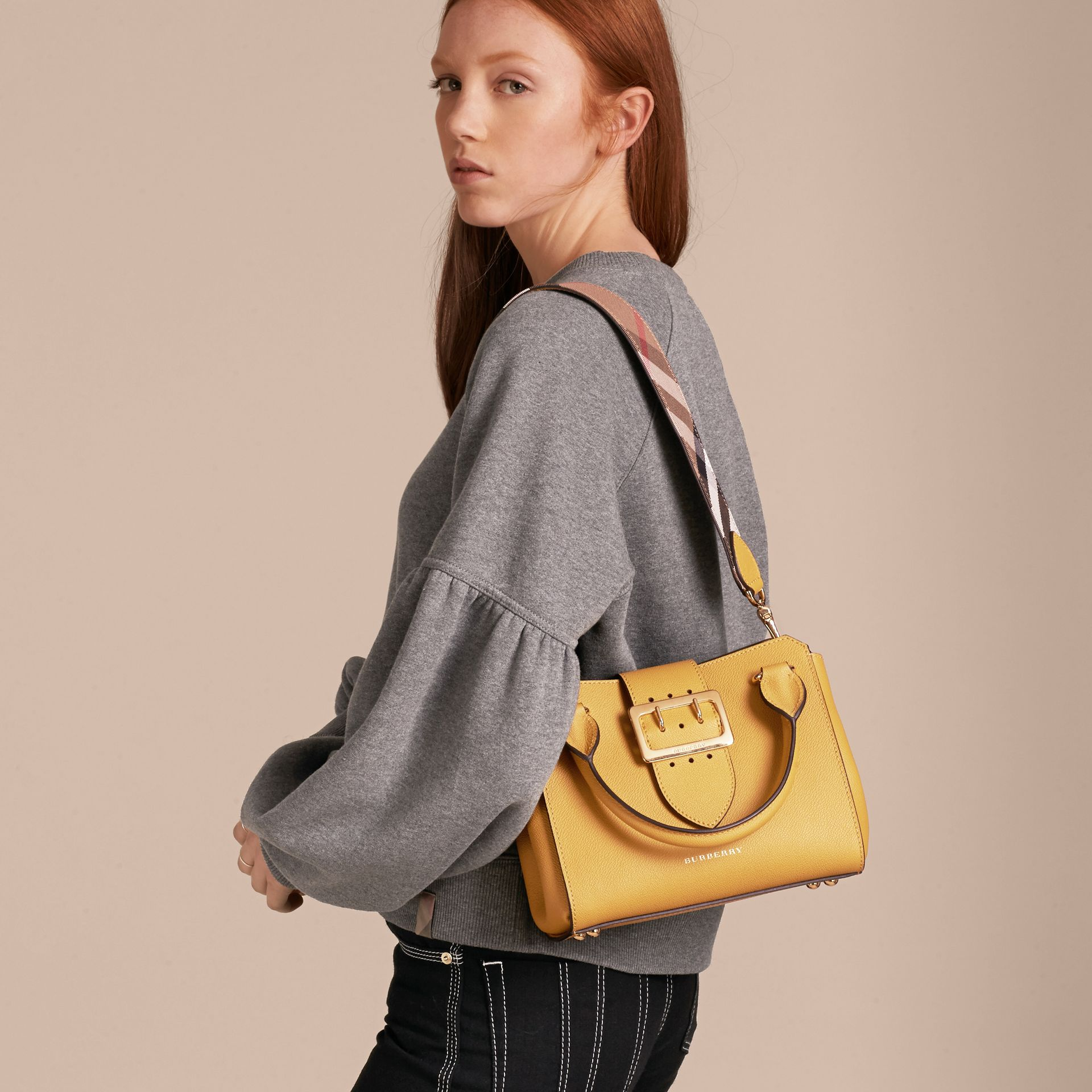 The Small Buckle Tote in Grainy Leather - gallery image 3