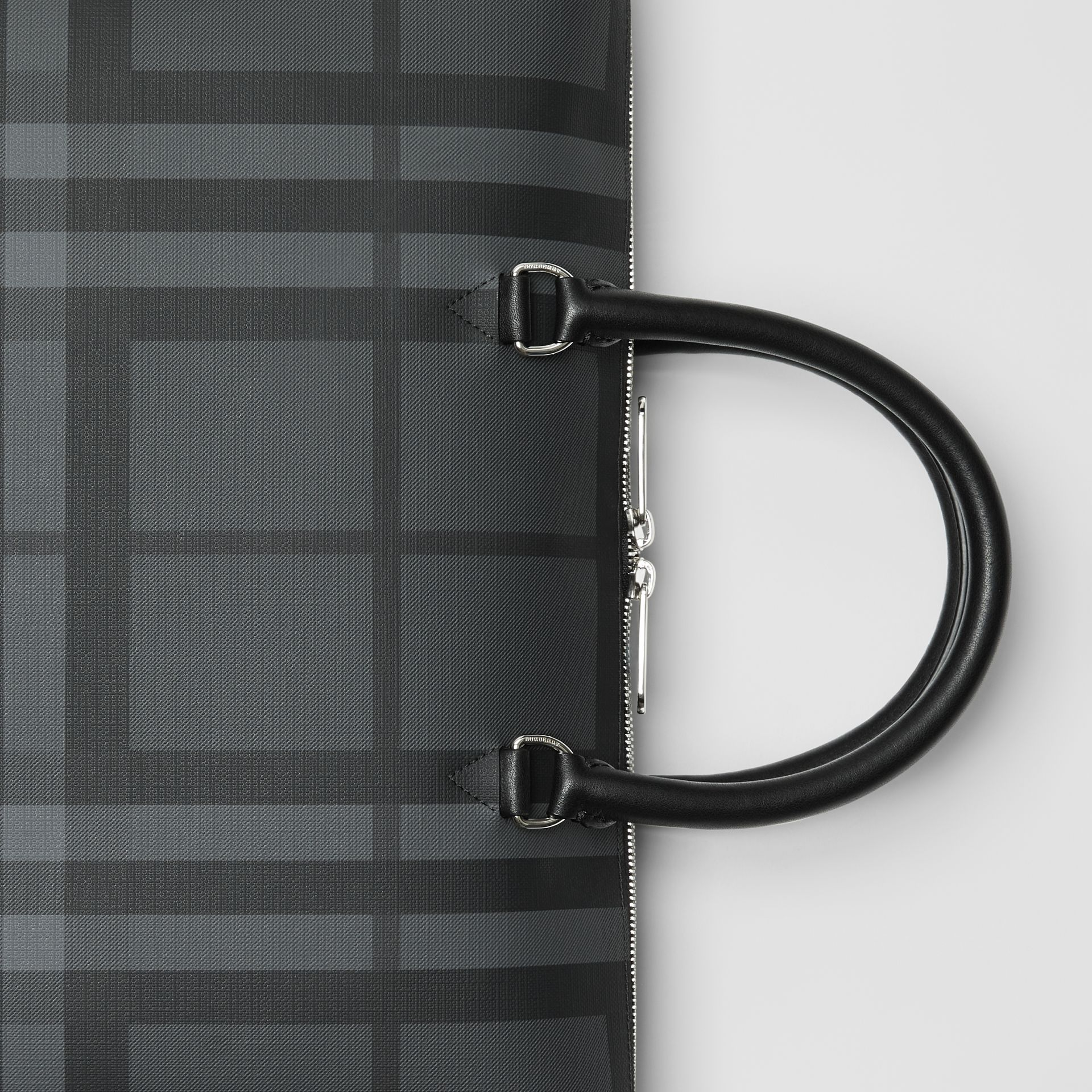 Large London Check Briefcase in Charcoal/black - Men | Burberry Australia - gallery image 1