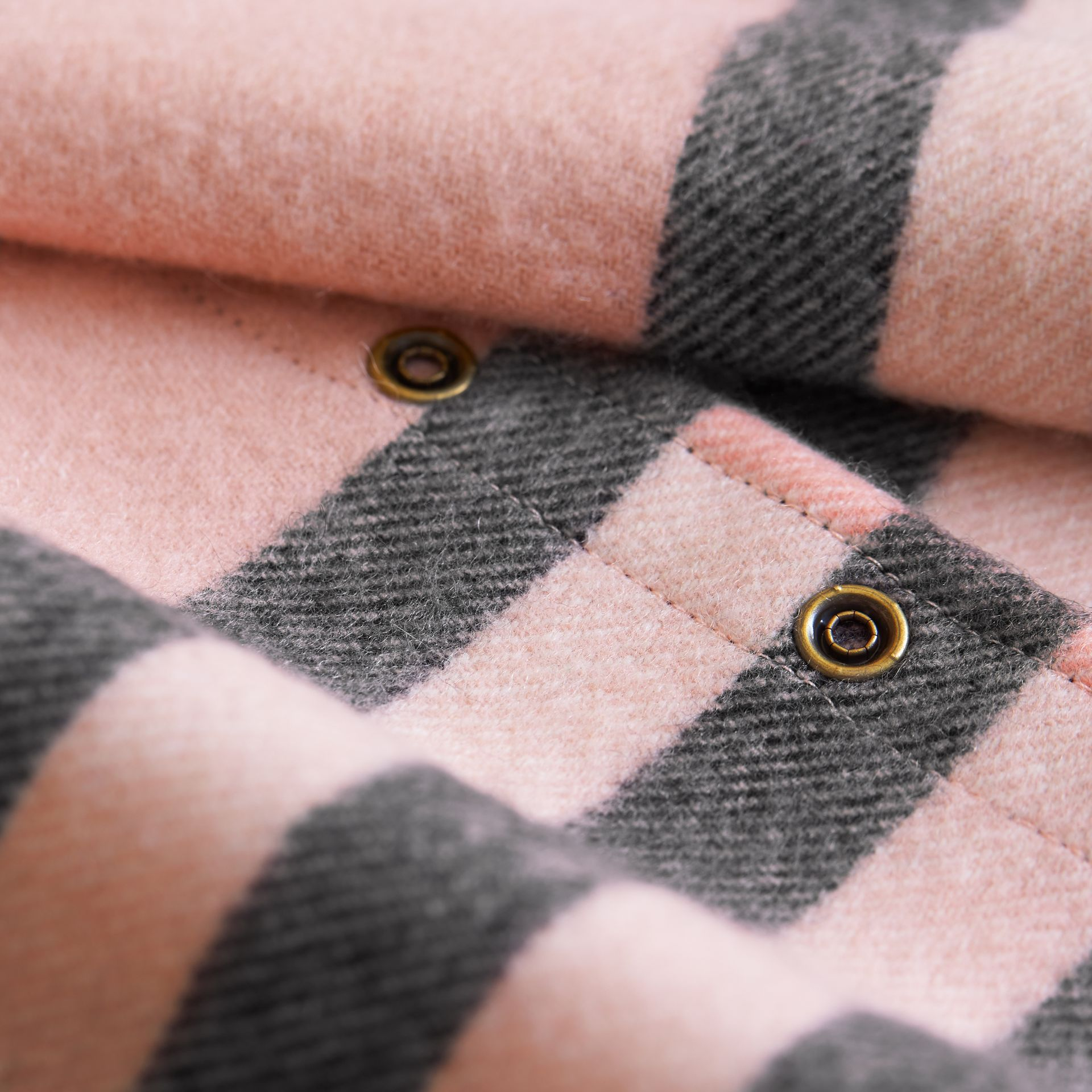 Exploded Check Cashmere Snood Rose - gallery image 3
