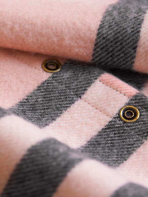 Exploded Check Cashmere Snood in Ash Rose - Children | Burberry United States - cell image 2