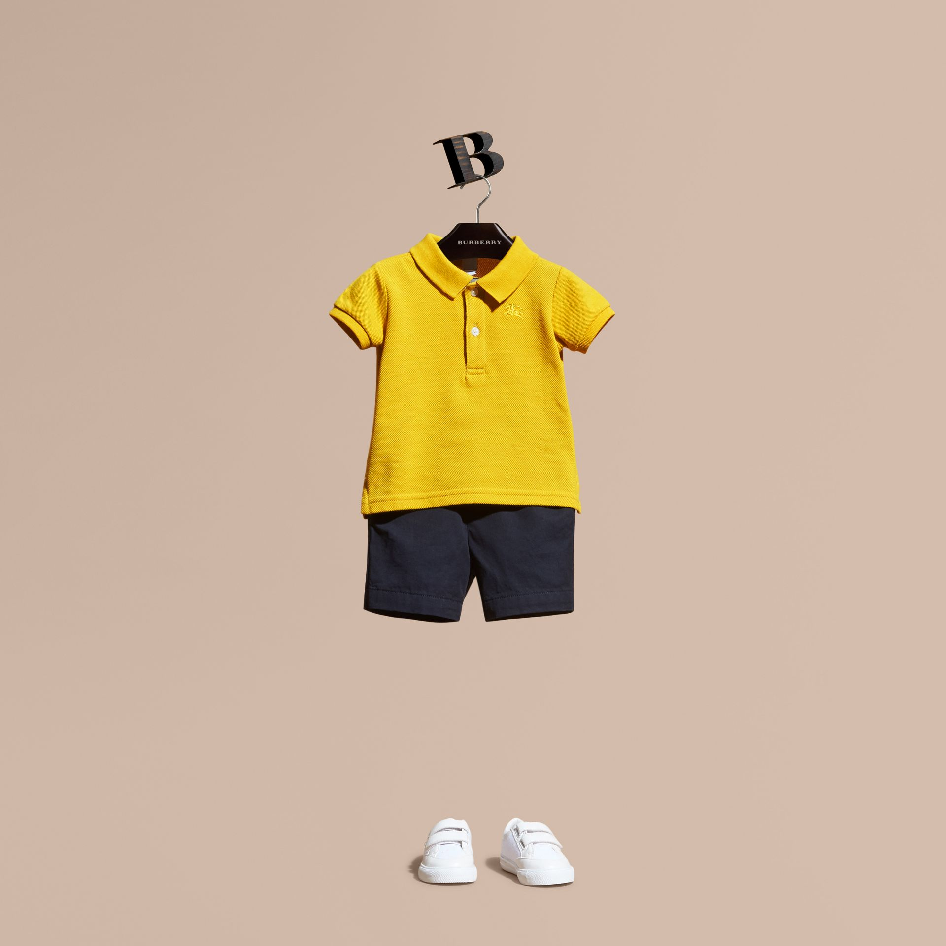 Check Placket Polo Shirt | Burberry - gallery image 1